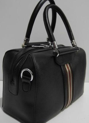 Женская каркасная сумка (чёрная) 19-02-033