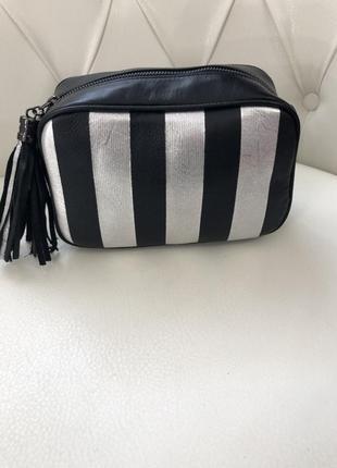 Стильная кожаная сумка (италия)