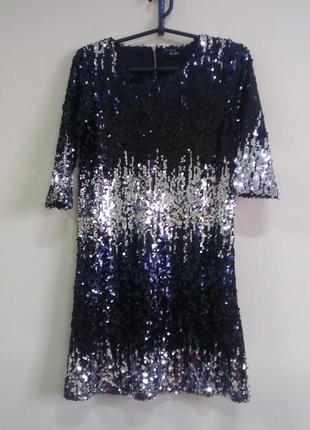 Шикарное платье в пайетках esmara