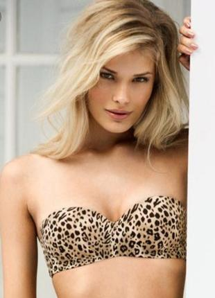 Бюстгальтер балконет леопард h&m(80b)