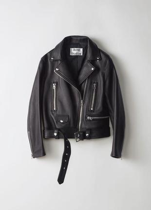 Кожаная куртка косуха acne studios