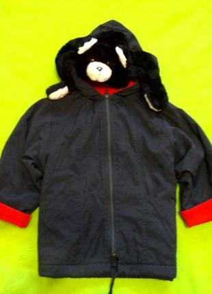 Супер стильная комбинированная куртка на 2-3 года