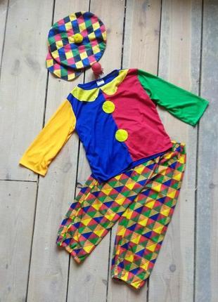 Карнавальный костюм клоун шут 8-10 лет