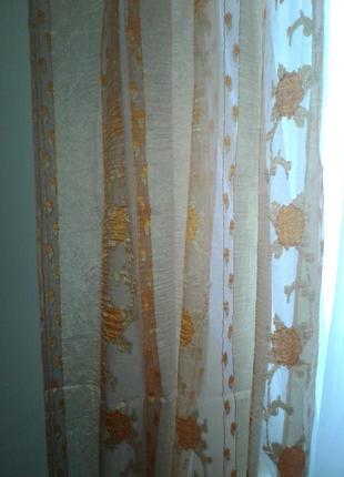 Тюли - шторы органза, готовый комплект3 фото