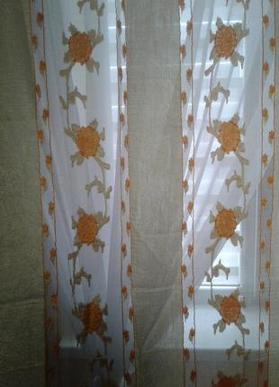 Тюли - шторы органза, готовый комплект7 фото