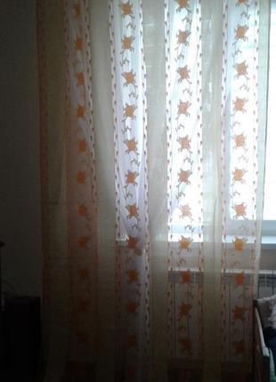 Тюли - шторы органза, готовый комплект5 фото