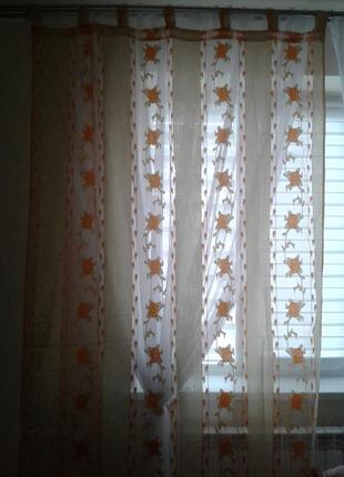 Тюли - шторы органза, готовый комплект