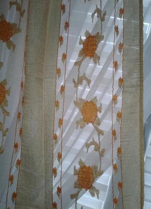 Тюли - шторы органза, готовый комплект9 фото