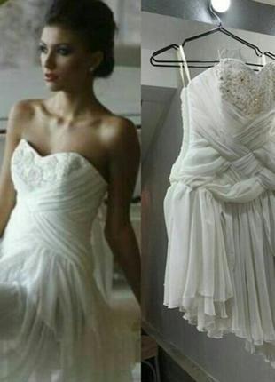 Короткое свадебное платье slanovskiy