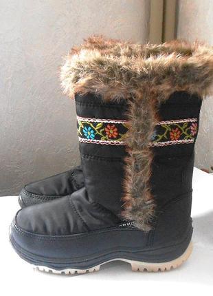 Красивые теплые зимние сапоги для девочки, р.33 код d3301