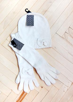 Набор шапка и перчатки h&m   новый
