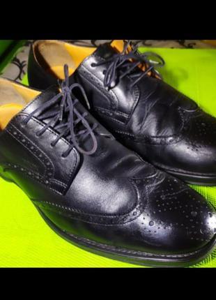 Мужские туфли / ботинки geox / ecco оригинал 43 размер