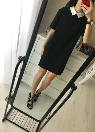 Чёрное классическое платье