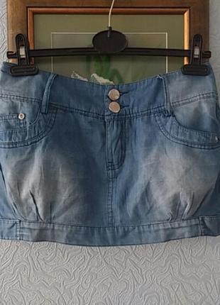 Отличная легкая хлопковая летняя юбка под джинс