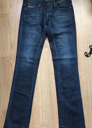 Синие джинсы g-star raw/бирка/сток