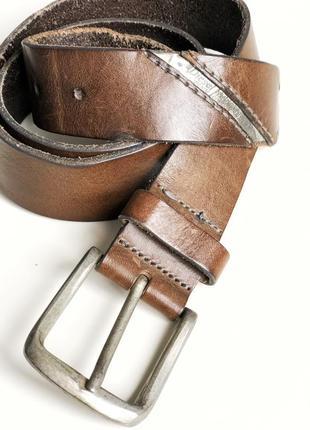 Кожаный мужской коричневый пояс diesel
