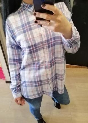 Рубашка mangо оверсайз