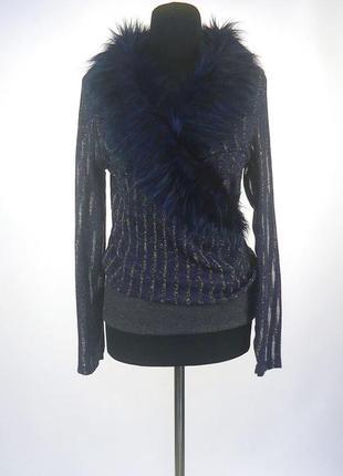Необычный свитерок с мехом