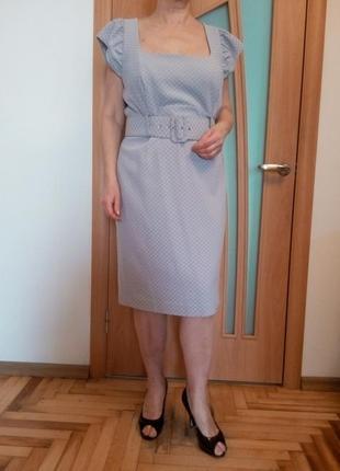 Стильное красивое платье под пояс. размер 18.