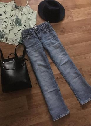 Тренд 2019 плотные джинсы клеш мото рр m оригинал