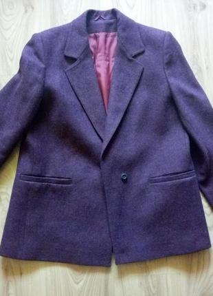 Фиолетовое пальто/пиджак  (m/l) тренд сезона 2019 шерсть