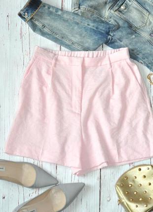 Нежно-розовые шорты h&m на м-л