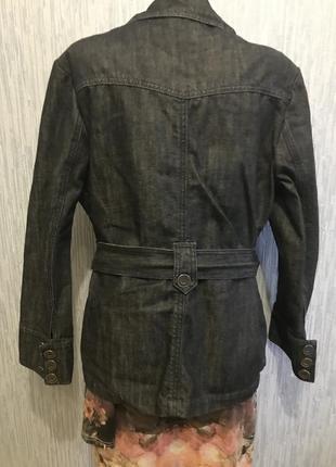 Шикарный джинсовый пиджак5 фото