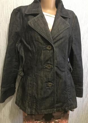 Шикарный джинсовый пиджак6 фото