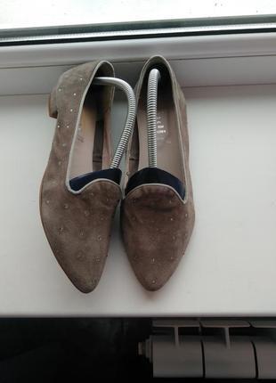 Замшевые туфельки с камушками varese 💥 расспродажа💥