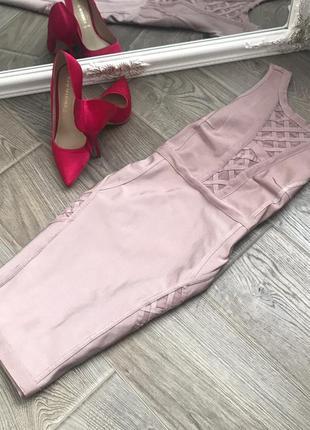 Нежное бандажное платье missguided