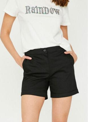 Джинсовые шорты черные koton турция 36 размер