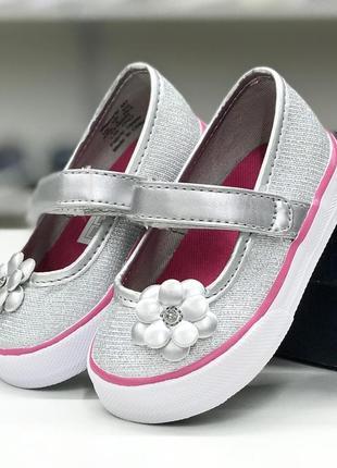 Легкие текстильные туфельки для малышки1 фото