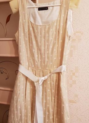 Платье миди в горошек монтон monton