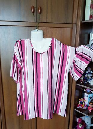 Полосатая туника-футболка размера 54-56