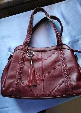 Роскошная женская сумка-тоут с кисточками  через плечо, дизайнерская кожаная сумка .
