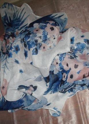🐞🐞легкий красивый шарф в цветочный принт германия 🐞🐞🐞5 фото