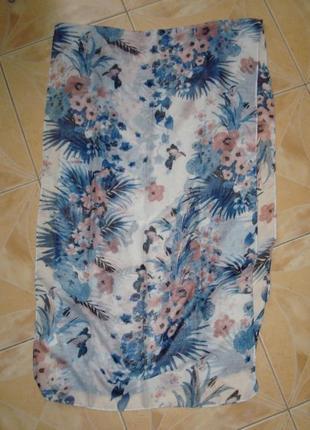 🐞🐞перезагружен + снижена цена легкий красивый шарф в цветочный принт германия 🐞🐞🐞6 фото