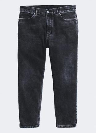 Черные джинсы прямой крой высокая посадка от h&m, p.34