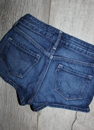Джинсовые шорты шортики h&m 4-5 лет, рост 104-110 см.2