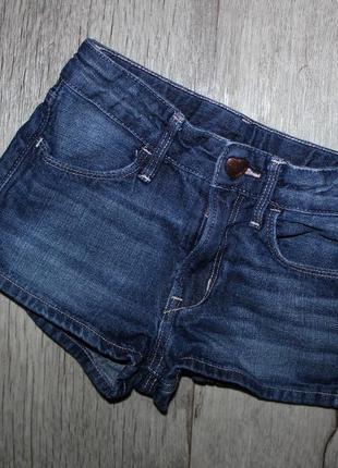 Джинсовые шорты шортики h&m 4-5 лет, рост 104-110 см.1