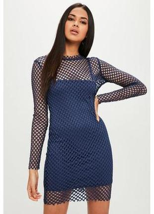 Платье сетка с подкладом missguided