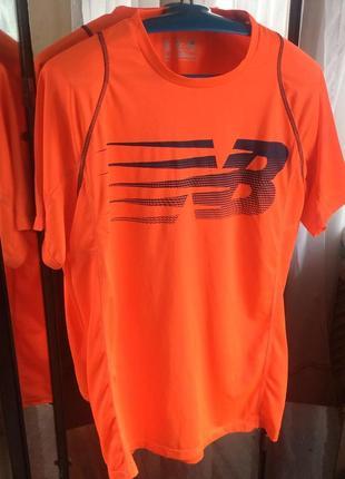 New balance мужская спортивная футболка