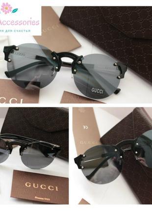 Круглые очки в черном цвете
