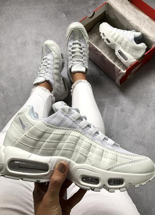 Шикарные женские кроссовки nike air max 95 all white 😍 (весна  лето  осень 593ac4590c2c8