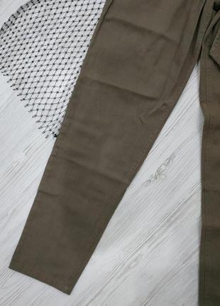 Брюки из джинсовой ткани с поясом7 фото
