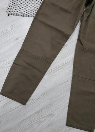 Брюки из джинсовой ткани с поясом8 фото