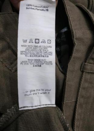 Брюки из джинсовой ткани с поясом9 фото
