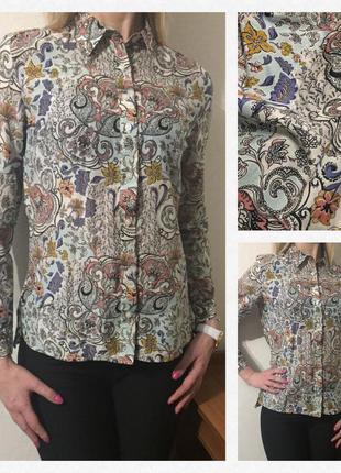 Безумно красивая💕 стильная 💕 нежная блуза/рубашка. состав: 80% коттон и 20% шелк5 фото