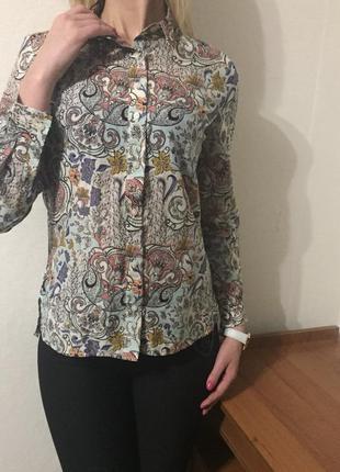 Безумно красивая💕 стильная 💕 нежная блуза/рубашка. состав: 80% коттон и 20% шелк8 фото