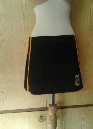 Спортивная черная юбка,м